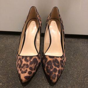NWT-Nine West Calf Hair Leopard Pumps 8.5